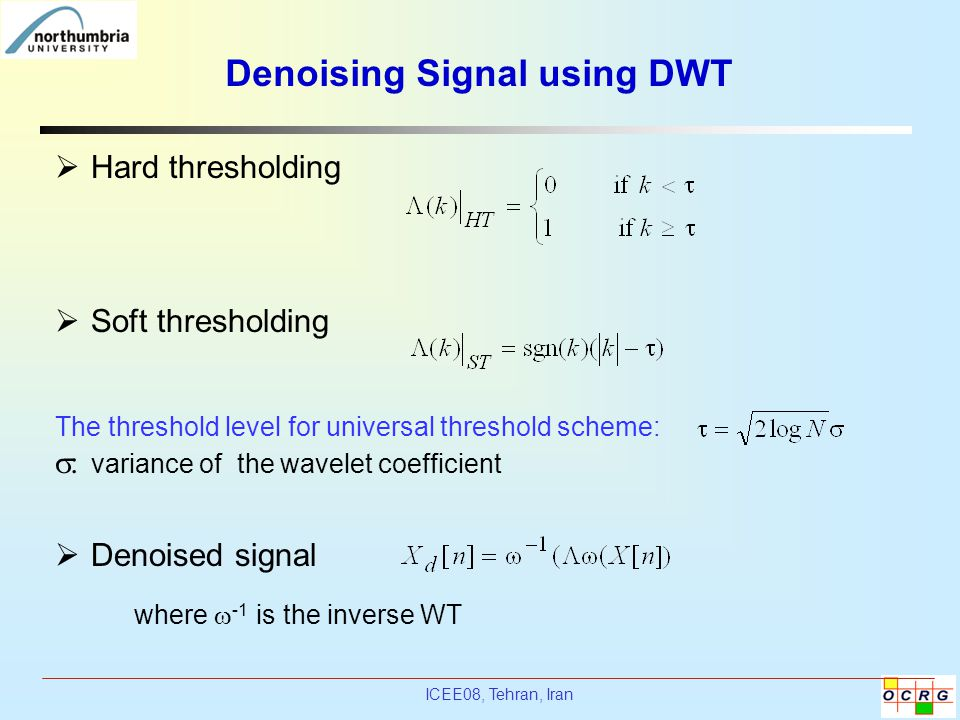Denoising Signal using DWT