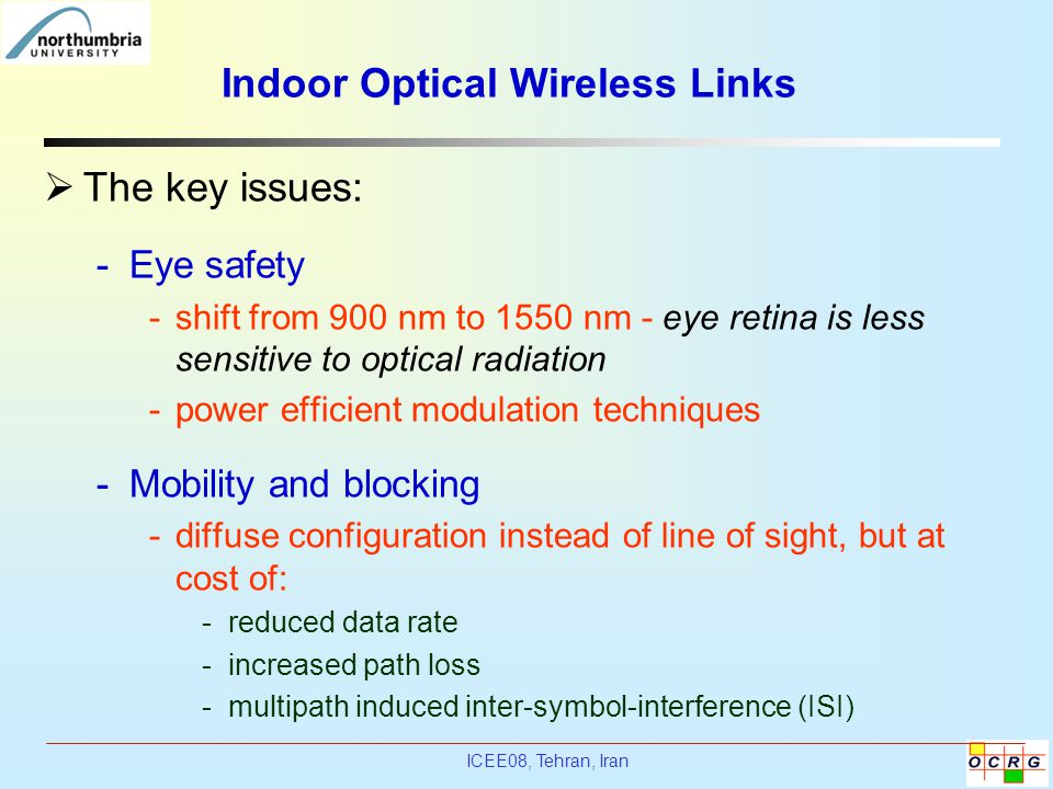 Indoor Optical Wireless Links
