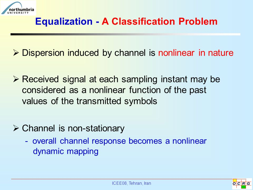 Equalization - A Classification Problem