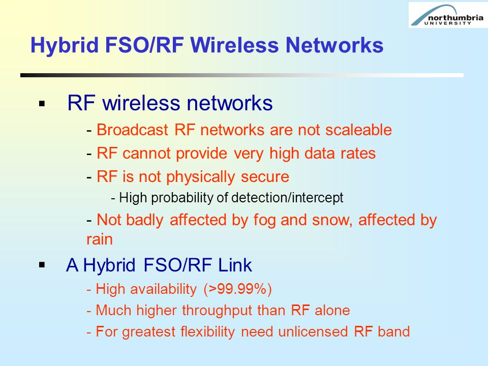Hybrid FSO/RF Wireless Networks