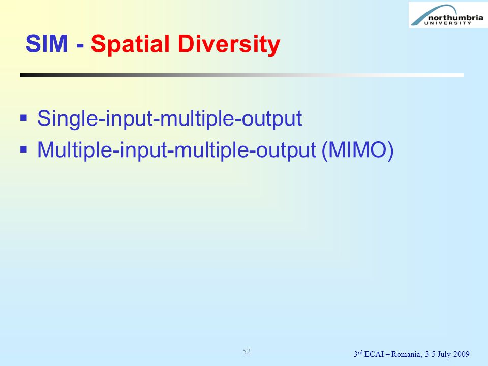 SIM - Spatial Diversity