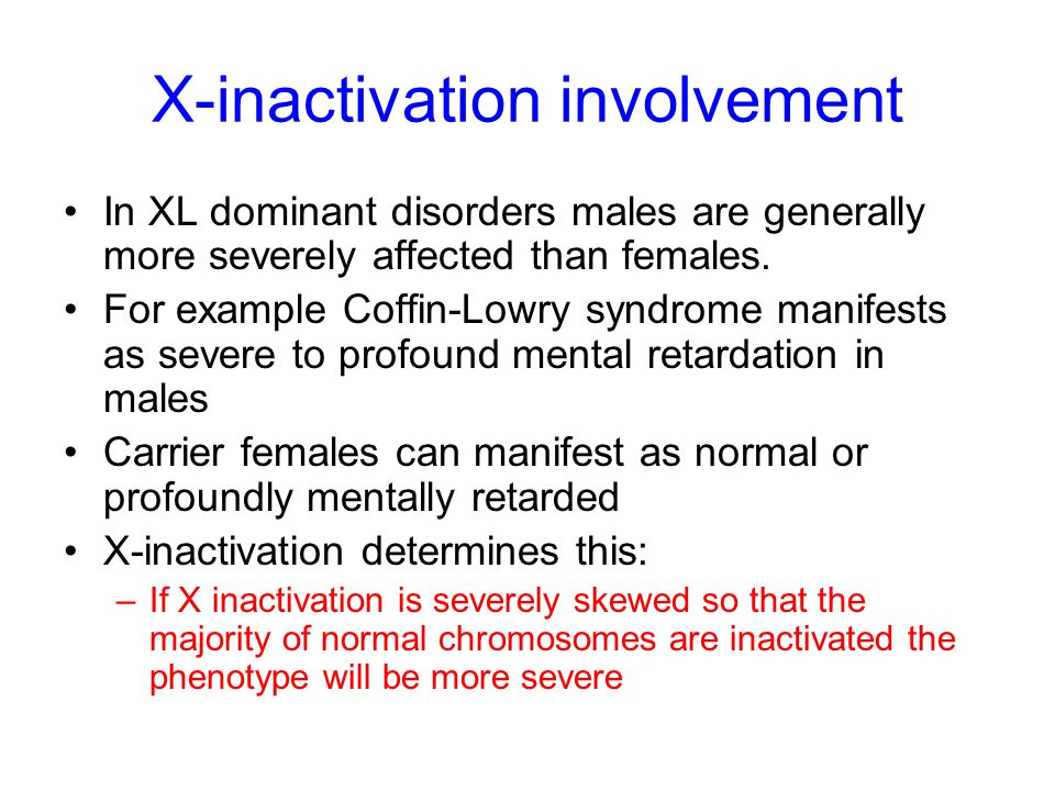 X-inactivation involvement