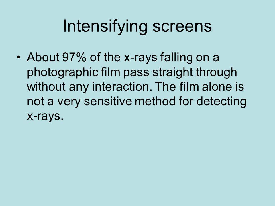 Intensifying screens