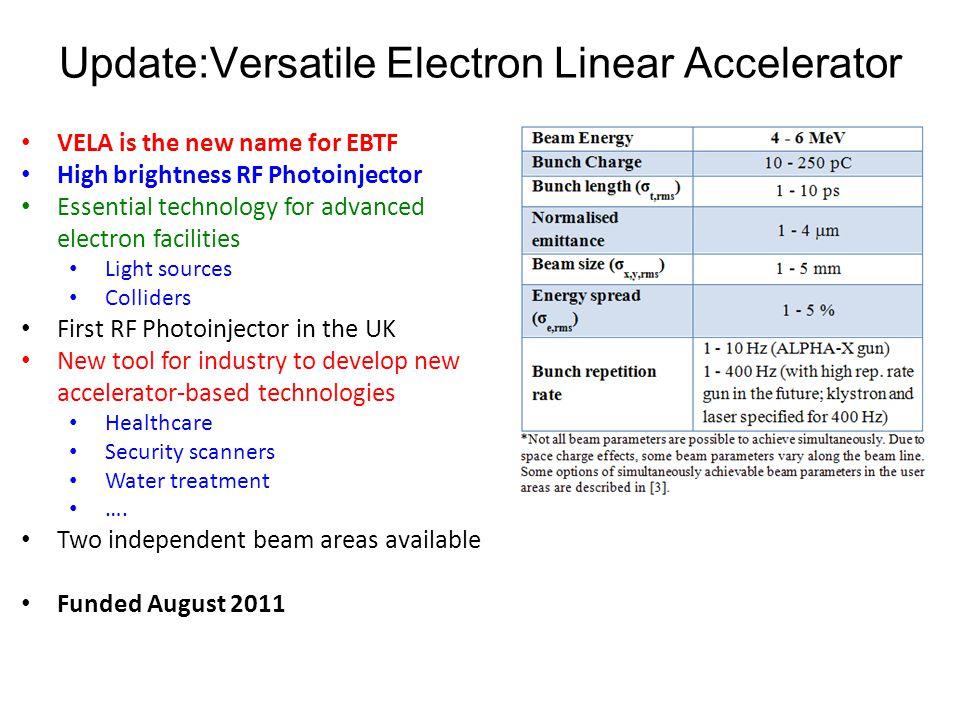 Update:Versatile Electron Linear Accelerator