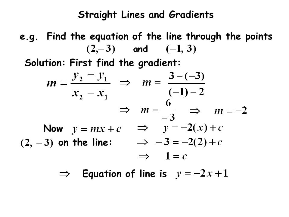 Solution: First find the gradient: