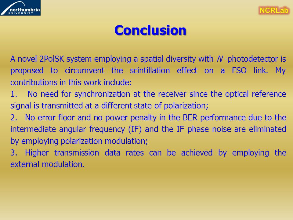 NCRLab Conclusion.