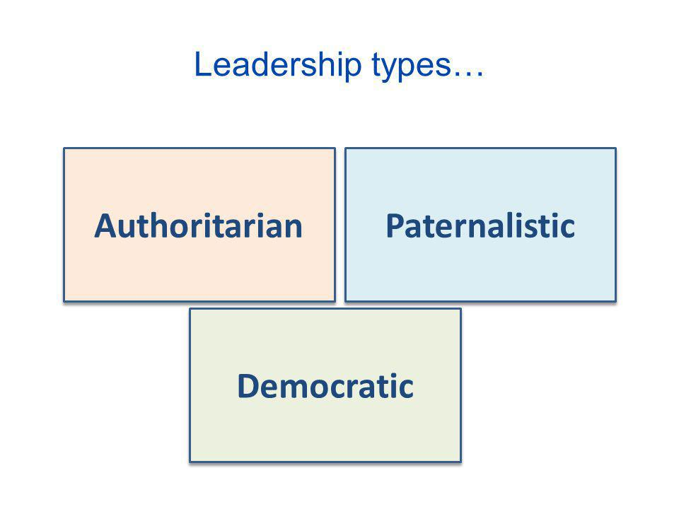 Authoritarian Paternalistic Democratic