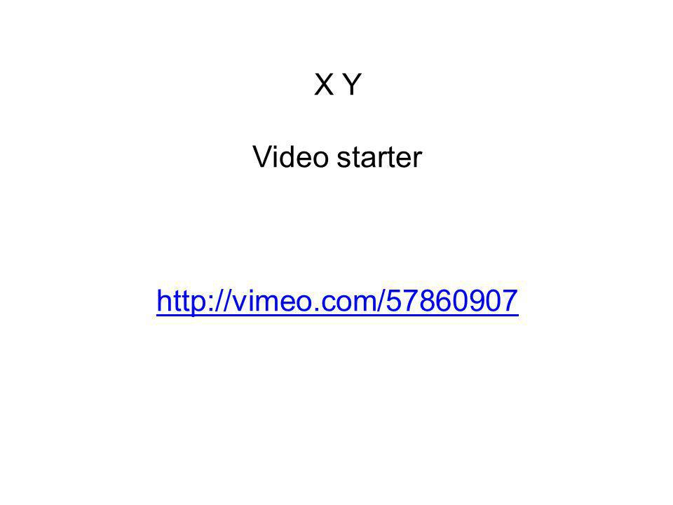 X Y Video starter http://vimeo.com/57860907