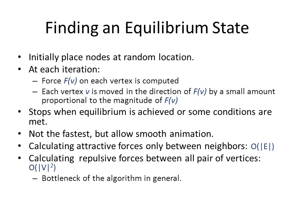 Finding an Equilibrium State
