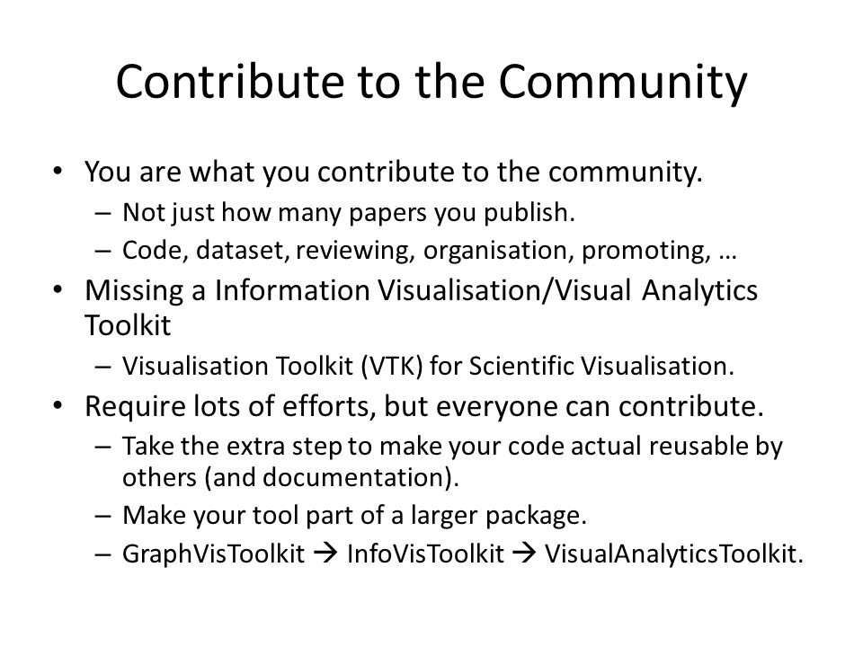 Contribute to the Community