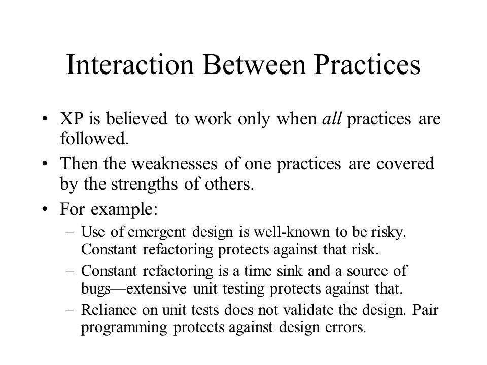 Interaction Between Practices