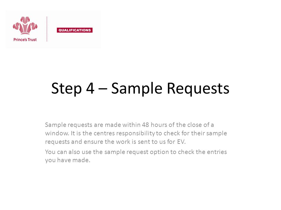 Step 4 – Sample Requests
