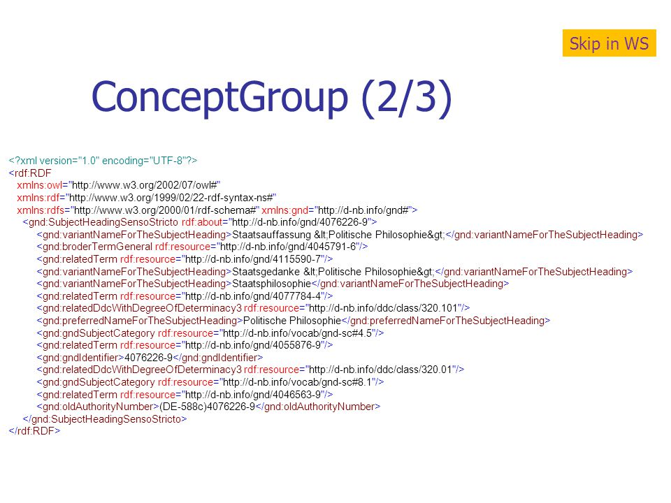 ConceptGroup (2/3) Skip in WS