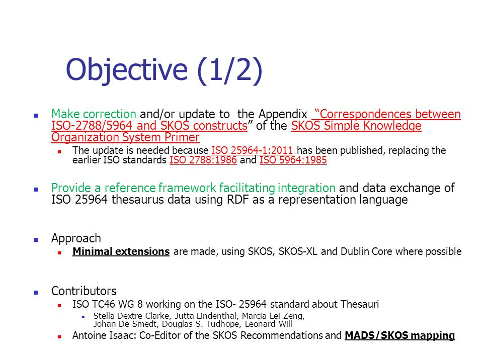 Objective (1/2)