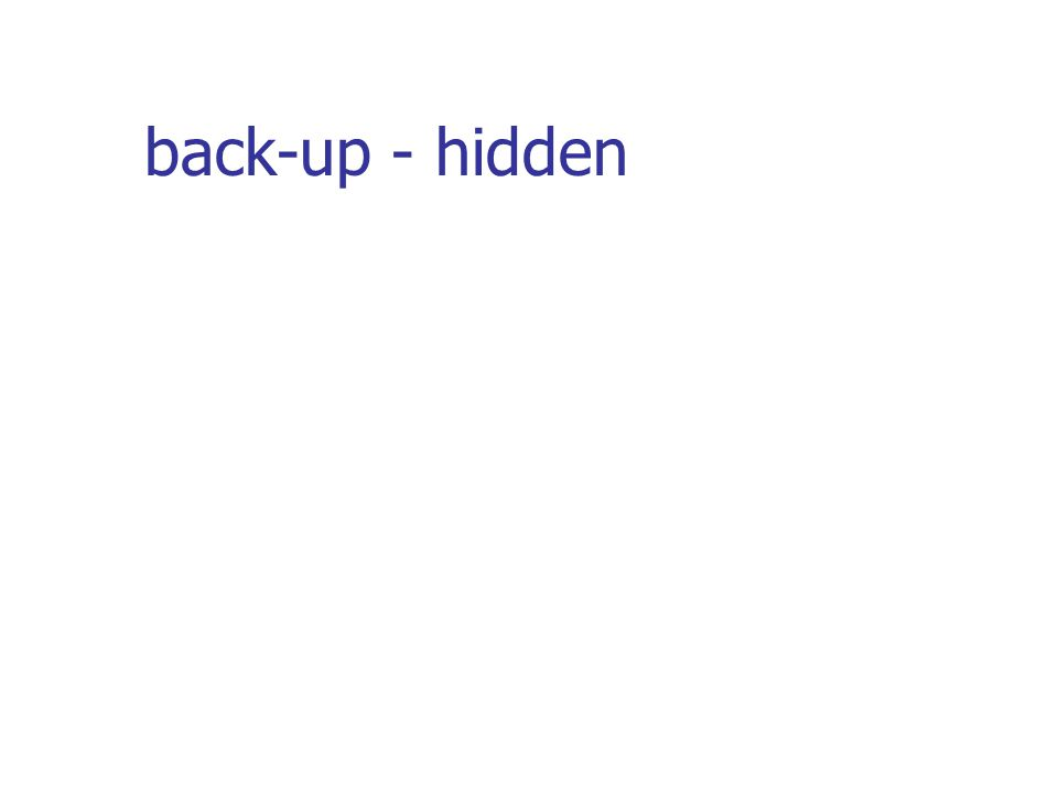back-up - hidden