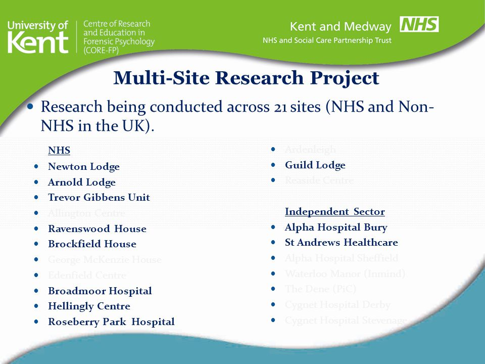 Multi-Site Research Project