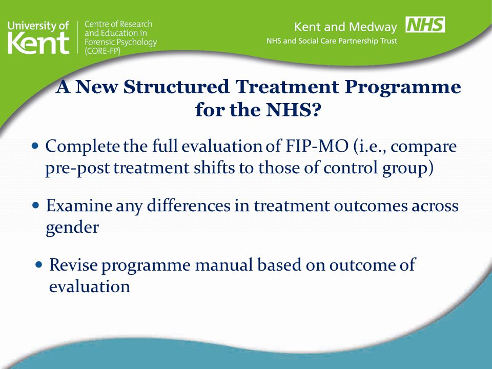 A New Structured Treatment Programme for the NHS