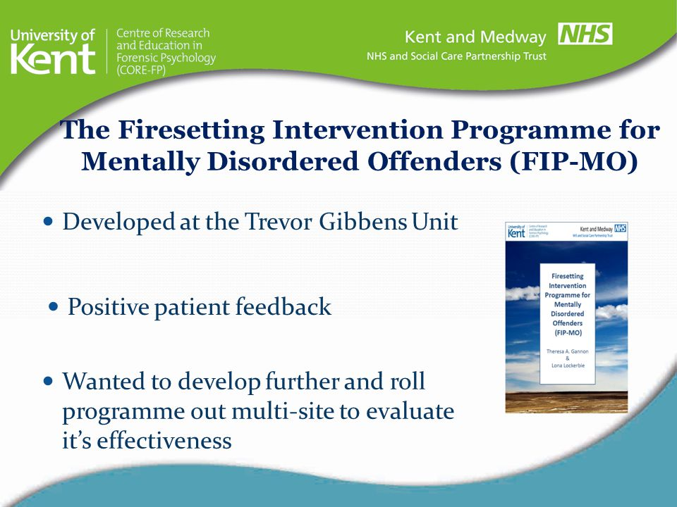The Firesetting Intervention Programme for Mentally Disordered Offenders (FIP-MO)