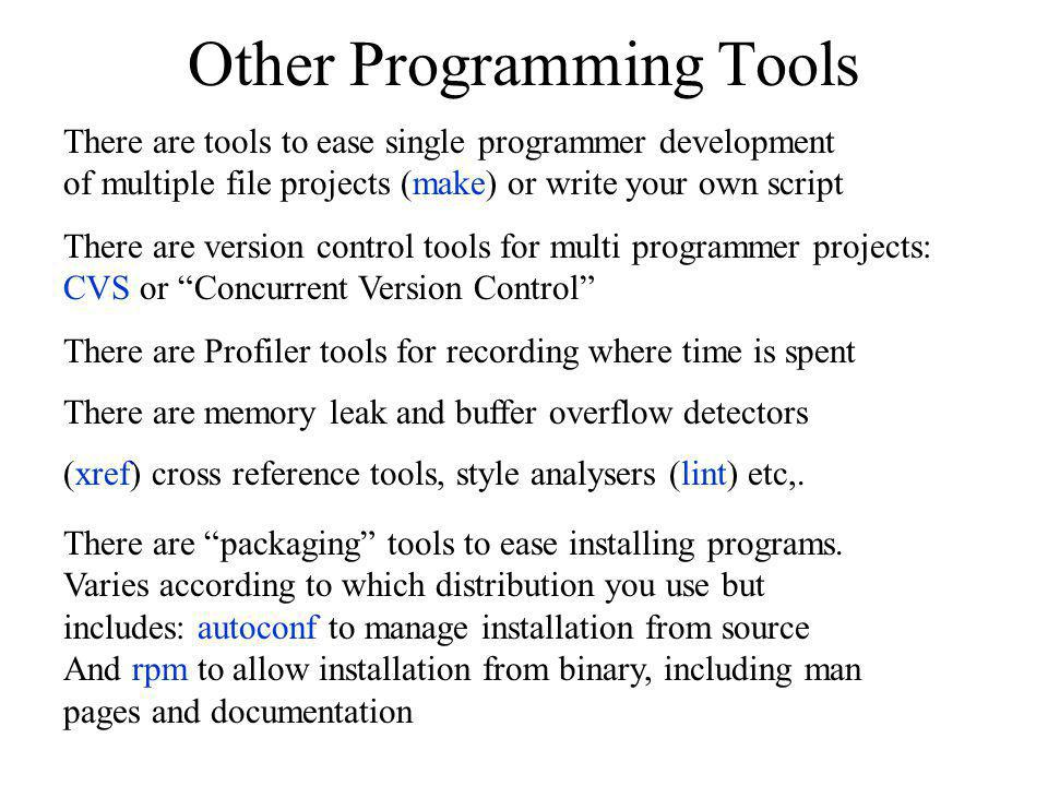 Other Programming Tools