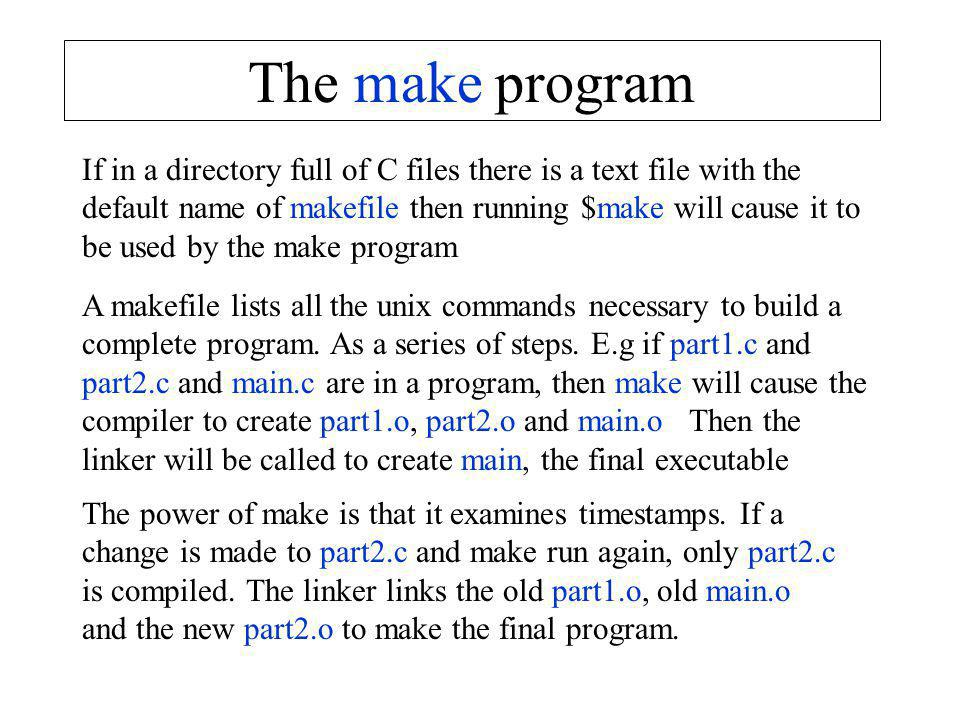 The make program