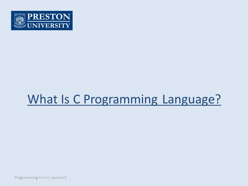 What Is C Programming Language