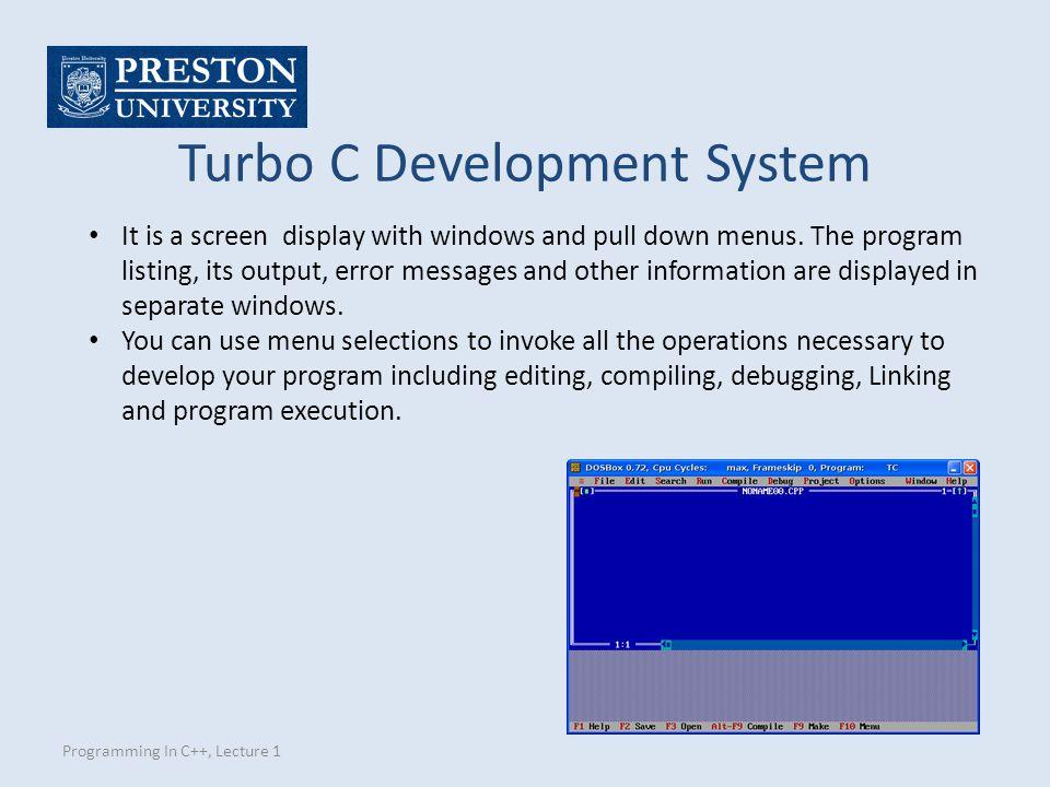 Turbo C Development System