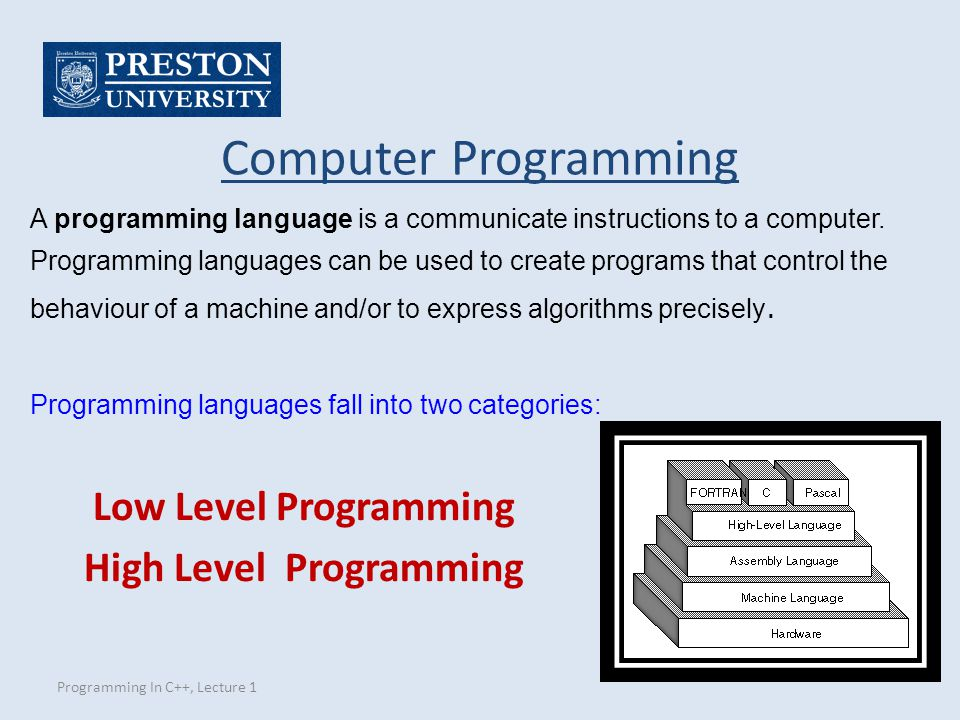 High Level Programming