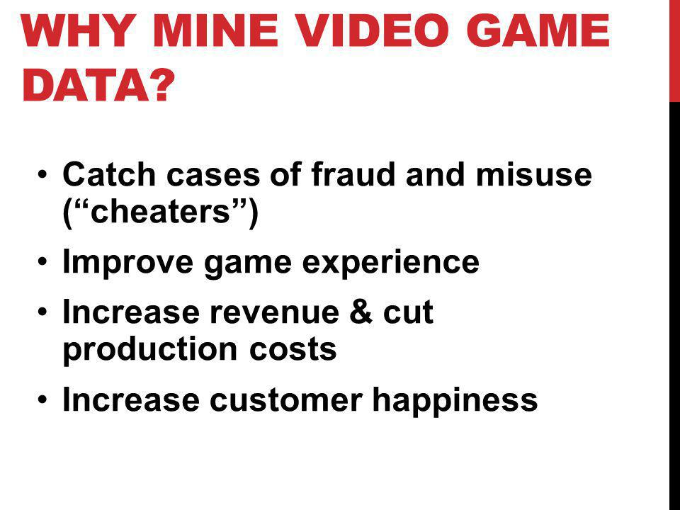 Why mine video game data