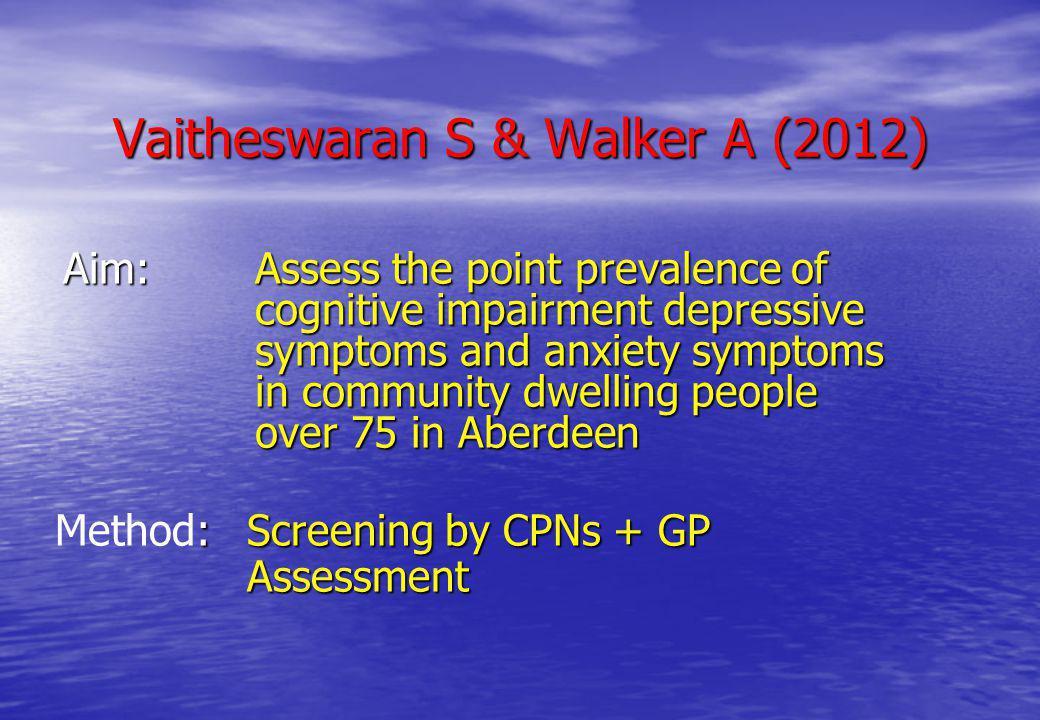 Vaitheswaran S & Walker A (2012)