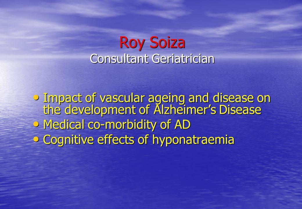 Roy Soiza Consultant Geriatrician