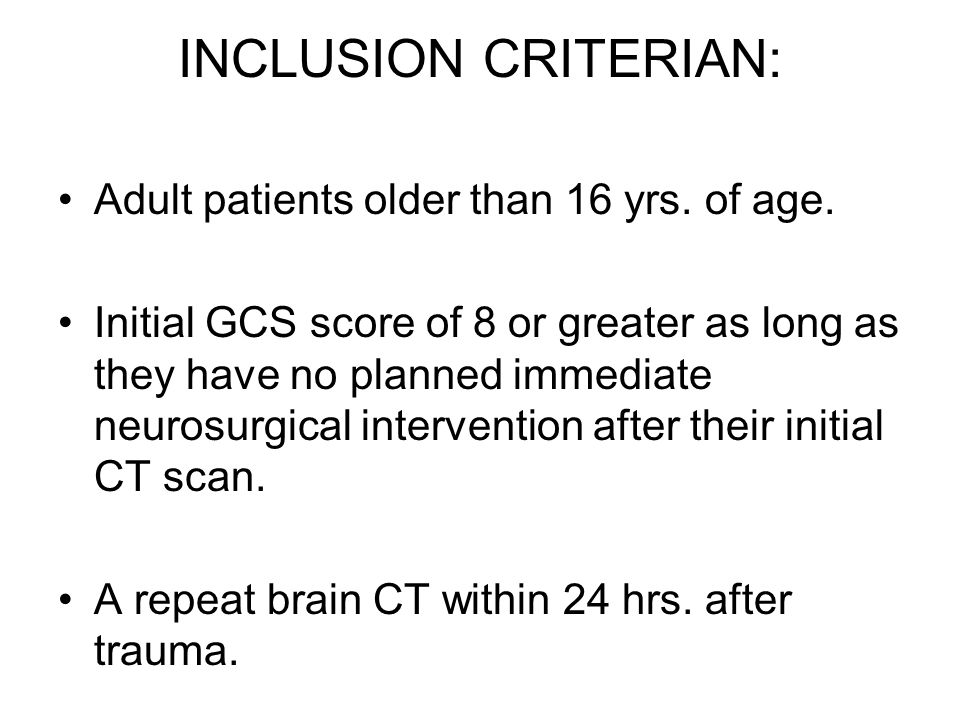 INCLUSION CRITERIAN: Adult patients older than 16 yrs. of age.