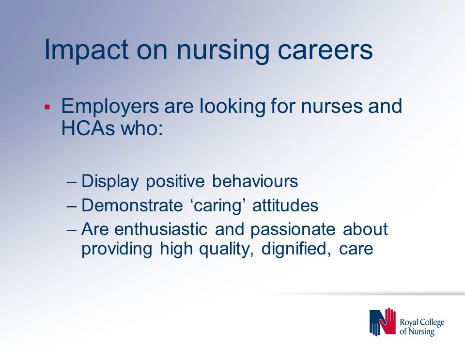 Impact on nursing careers