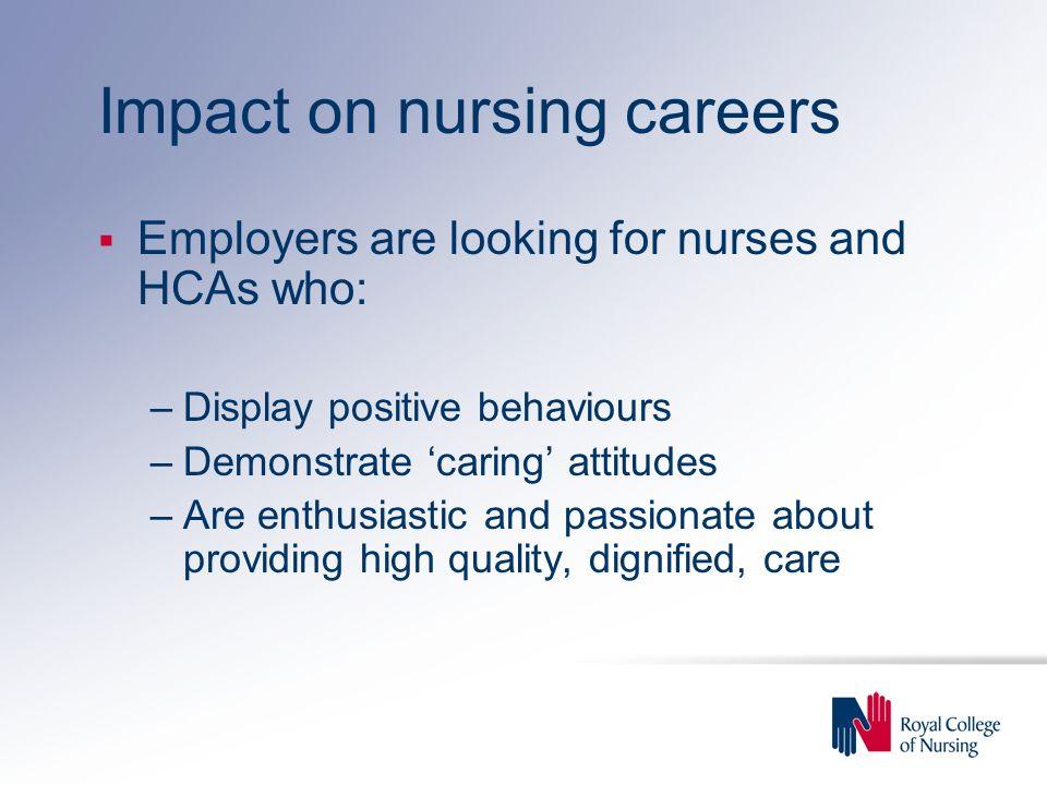 Impact on nursing careers