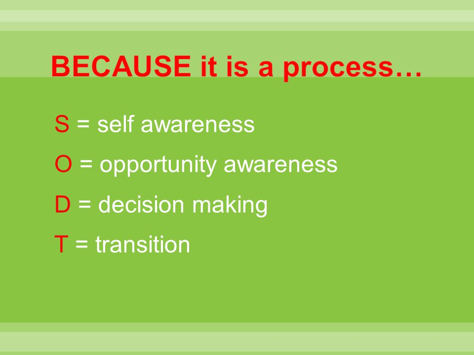 BECAUSE it is a process…