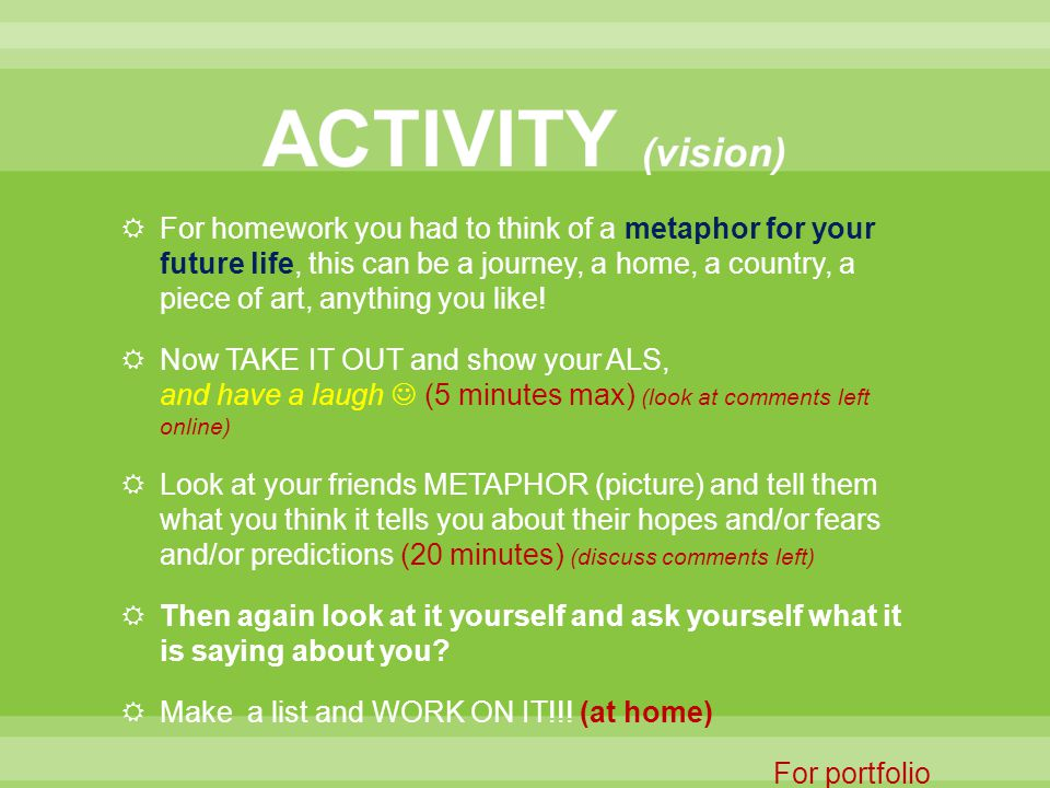ACTIVITY (vision)