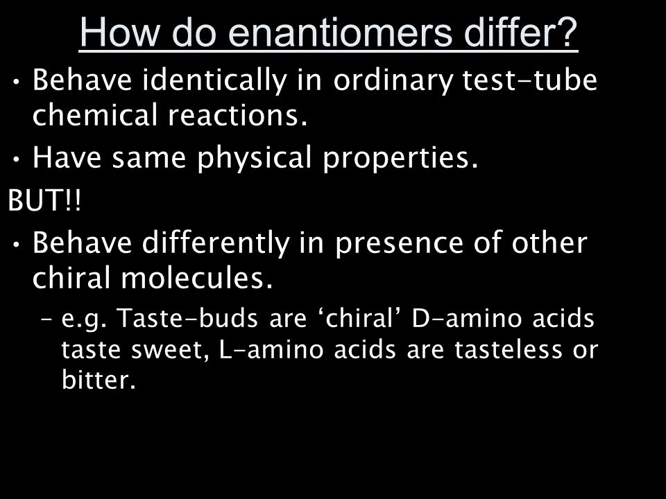 How do enantiomers differ