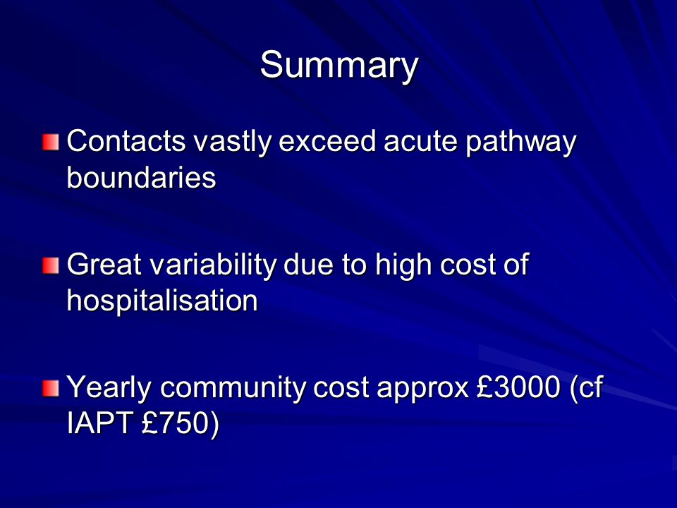 Summary Contacts vastly exceed acute pathway boundaries