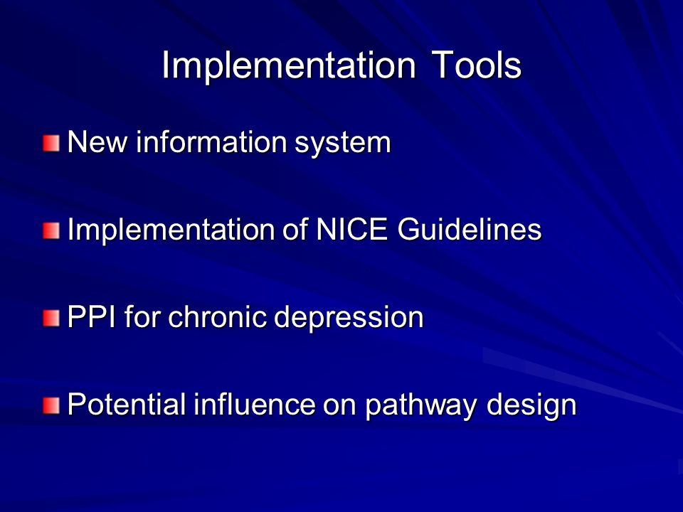 Implementation Tools New information system