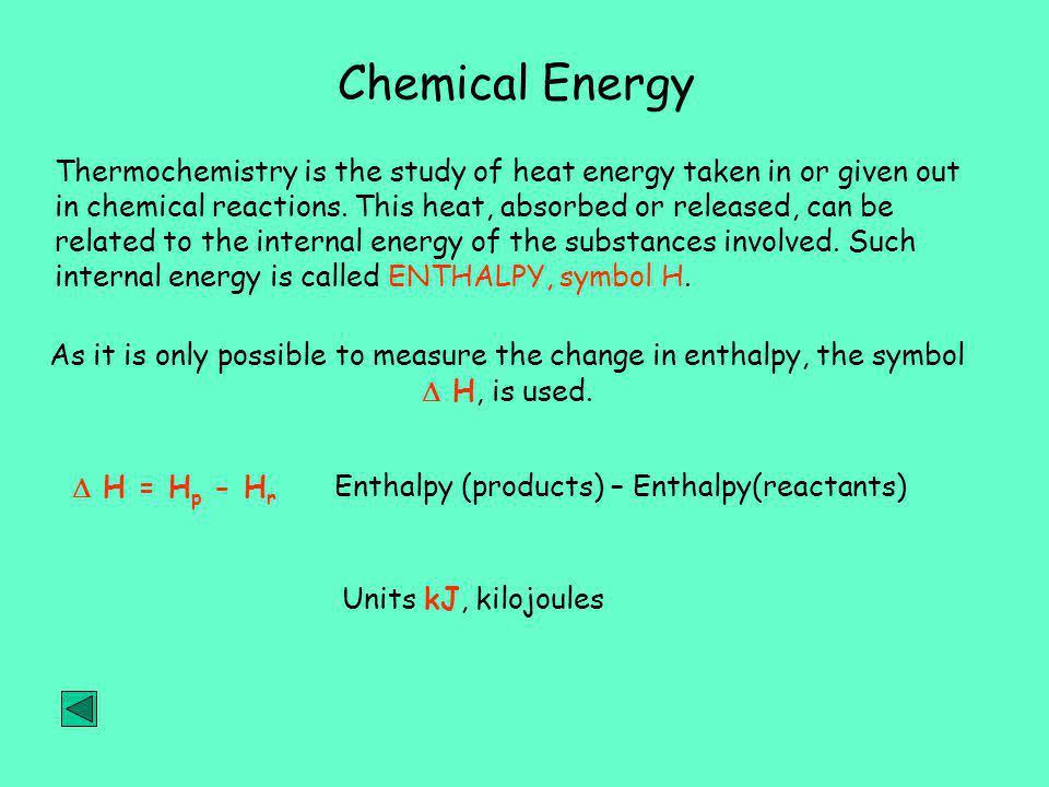 Chemical Energy