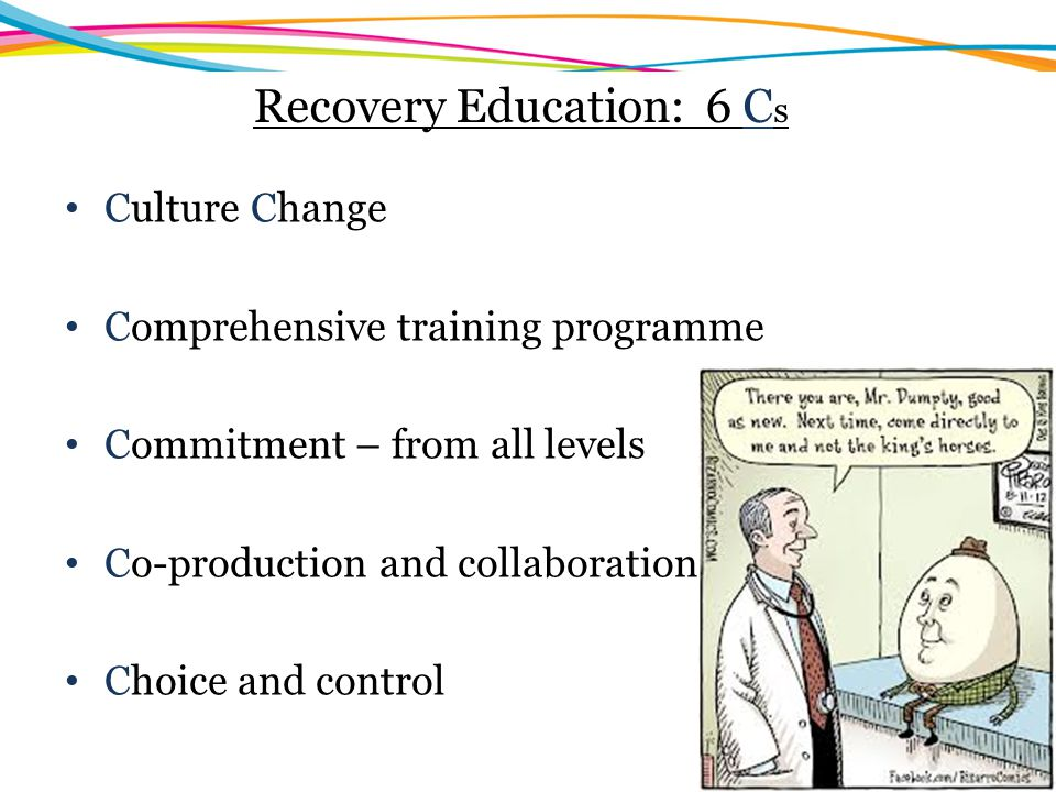 Recovery Education: 6 Cs