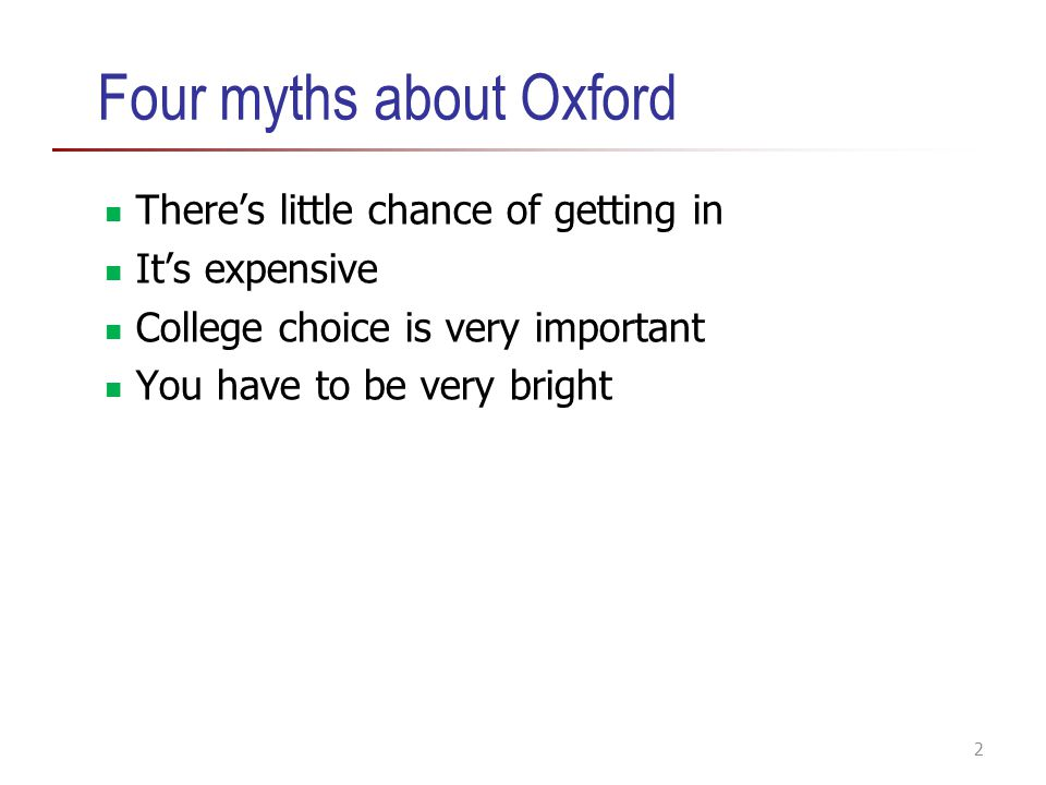 Four myths about Oxford