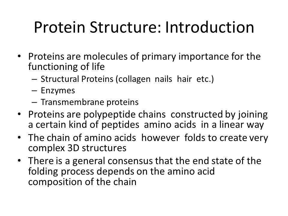 Protein Structure: Introduction