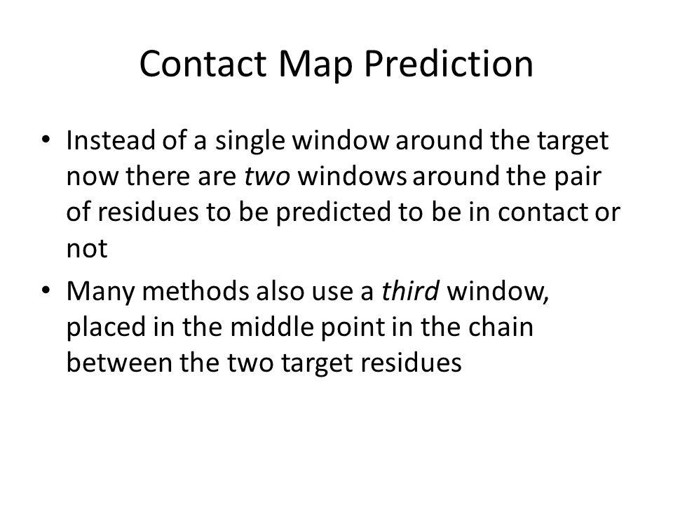 Contact Map Prediction
