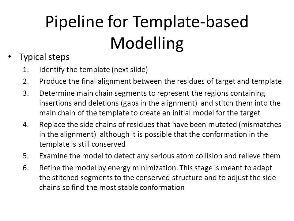 Pipeline for Template-based Modelling