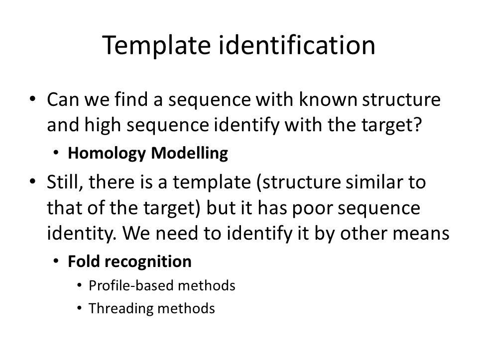 Template identification
