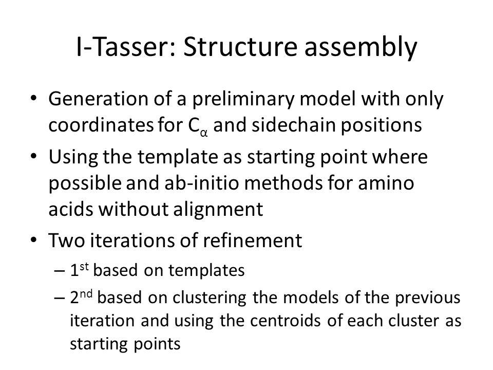 I-Tasser: Structure assembly