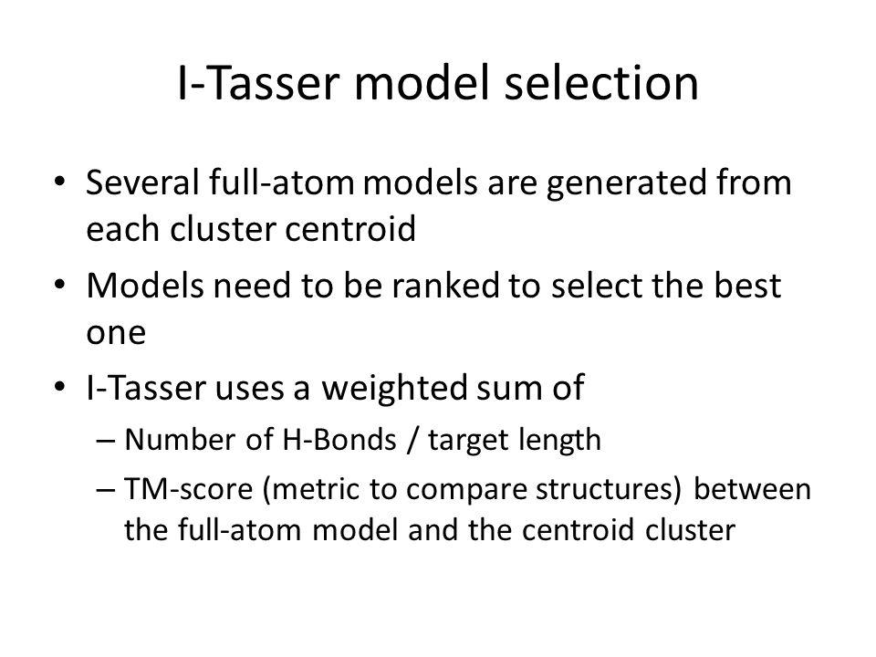I-Tasser model selection