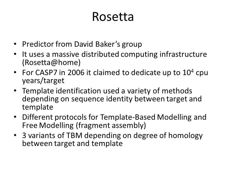 Rosetta Predictor from David Baker's group