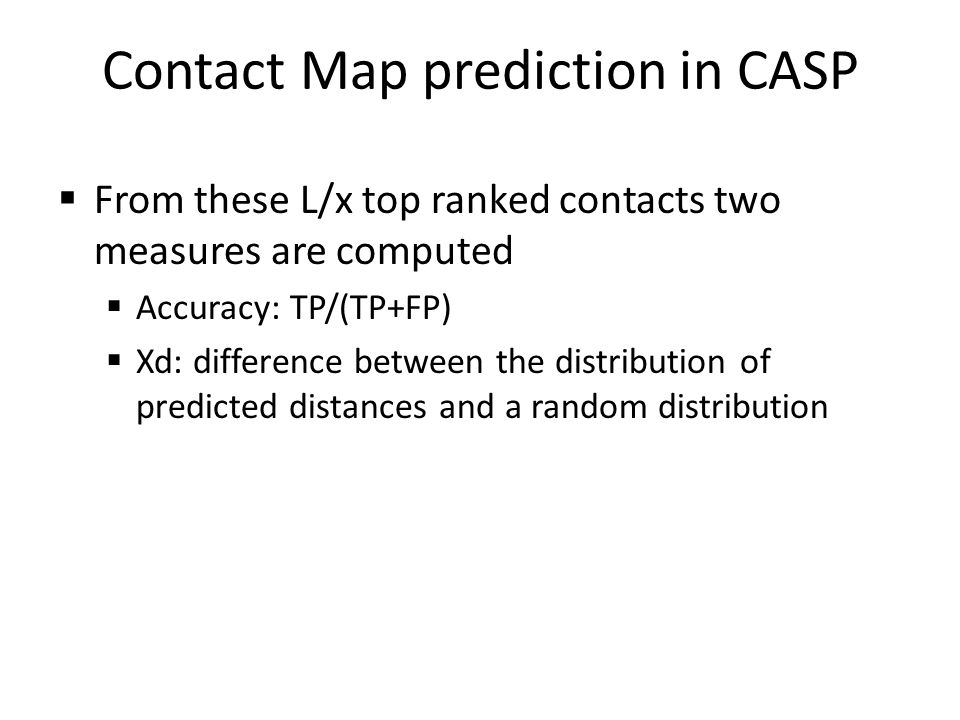 Contact Map prediction in CASP
