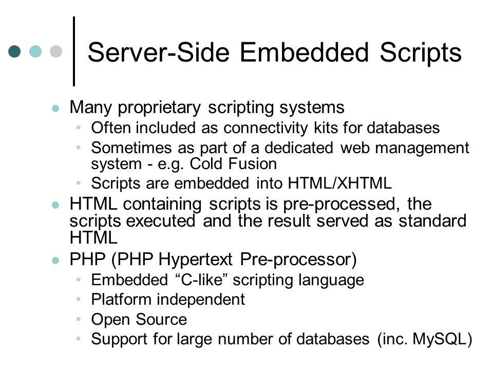 Server-Side Embedded Scripts